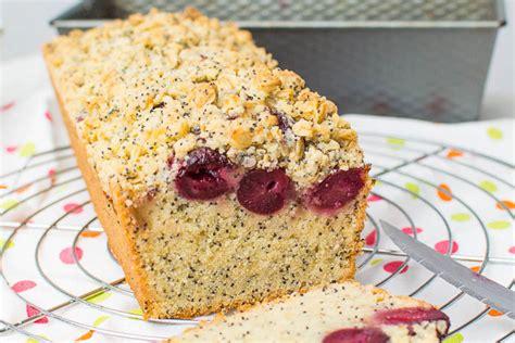 Kuchen Mit Kastenform Und Kirschen Kirsch Mohn Kuchen Mit Knusper Streuseln Kaffee Cupcakes