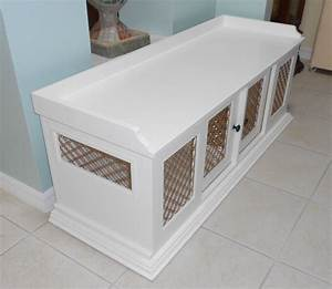 Custom wood dog crate figueroa39s fine custom furniture for Dog crate furniture bench