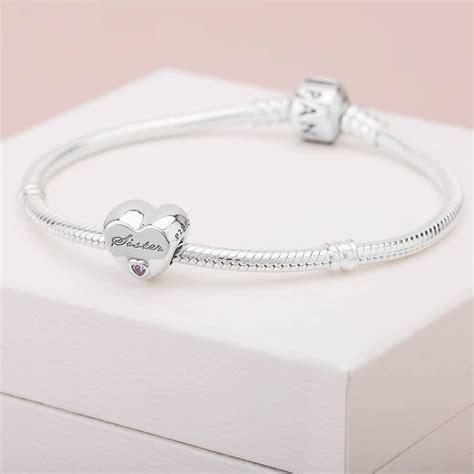 Pandora Silver Sisters Love Heart Charm 791946PCZ ...