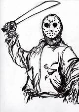 Jason Voorhees Sketch Coloring Clipart Pages Drawing Ditch Ink Deviantart Scrawls Trending Days Last Getdrawings Clipground Stats Downloads Dirty sketch template