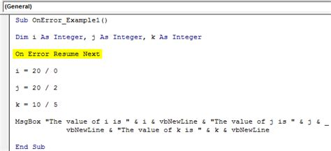vba on error statement top 3 ways to handle errors in vba