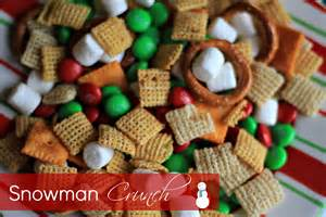 25 days of christmas fun fun party mix snowman crunch kasey trenum