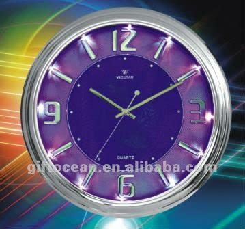 gorgeous hotel wall clock with led light view quartz