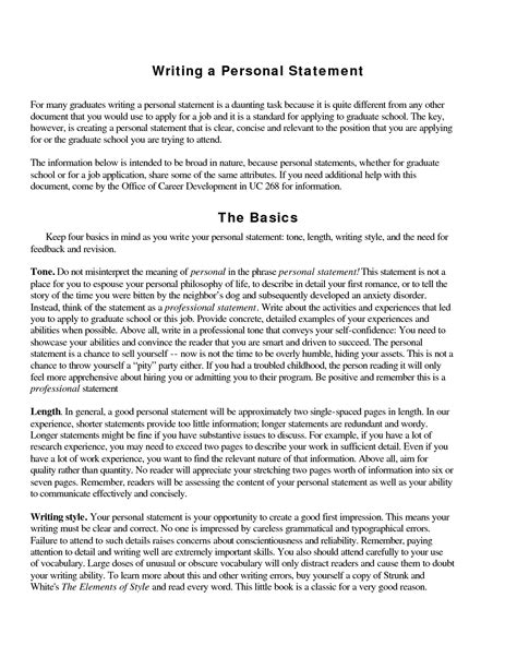 best of resume personal statement exle techmech co