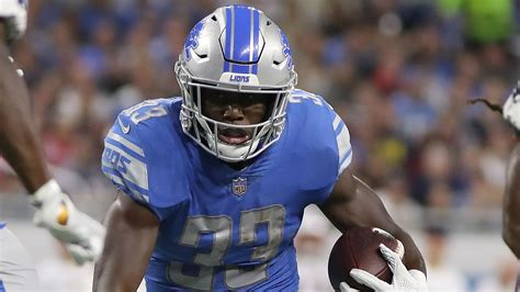 kerryon johnson   lions  yard rusher