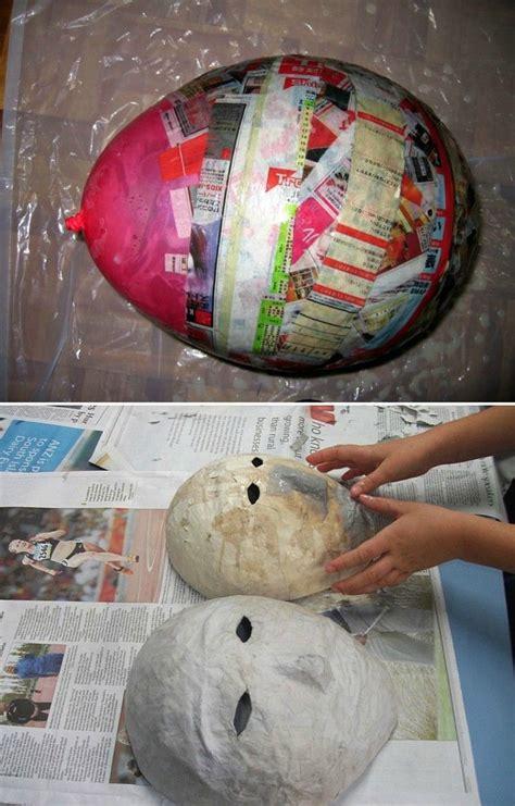 Faschingsmasken Selber Basteln by Einfache Masken Aus Pappmache Basteln Masken Fasching