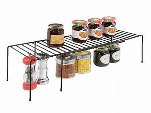 Expanding, Helper, Shelves, Maximize, Vertical, Space, In, Kitchen, Cabinets, And, Pantries