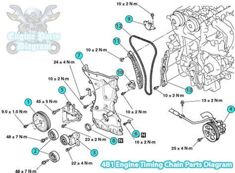 Mitsubishi Outlander Timing Chain Part Diagram Engine