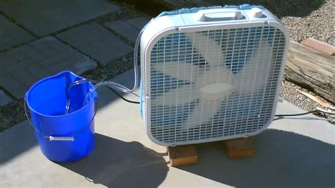 Homemade Evaporative Air Cooler Simple Quot Box Fan