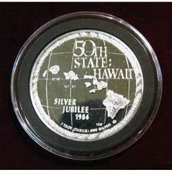 1148. 1959-1984 Hawaii Silver Jubilee 1 oz. .999 Fine Silver.