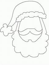 Face Coloring Santa Template Beard Claus Booth Props Cut Crafts Clipart Footprint Fensterbilder Gesicht Popular Activities sketch template