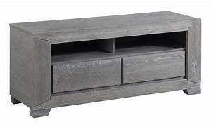Meuble Chene Gris : meuble tv ch ne gris bella ~ Teatrodelosmanantiales.com Idées de Décoration