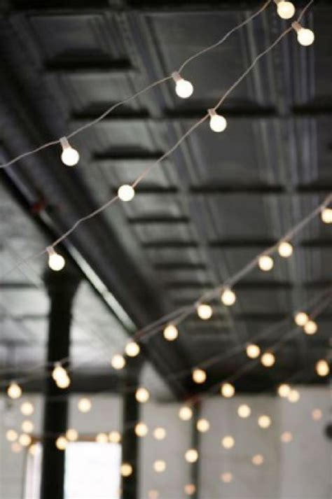 string lights for ceiling decor wedding