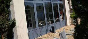Fenetre Alu Gris : porte fenetre alu gris dthomas ~ Melissatoandfro.com Idées de Décoration