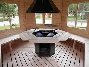 Grill Pavillon Holz : gartenpavillon gartenhaus aus bestem holz mit grill und ~ Whattoseeinmadrid.com Haus und Dekorationen