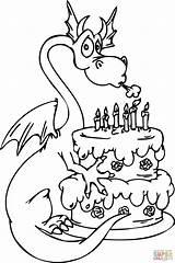 Coloring Birthday Cake Popular sketch template