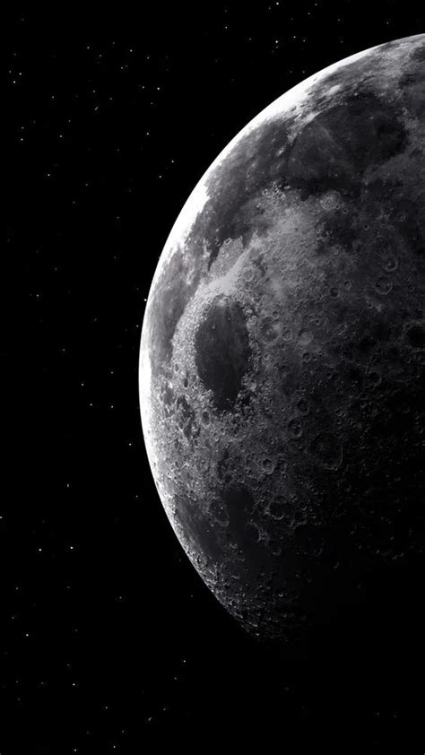 wallpapers the moon in 2020 black aesthetic wallpaper