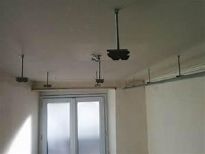 Porte Coulissante Plafond : salle de bain du premier faux plafond et porte coulissante brico info le blog de bruno catteau ~ Melissatoandfro.com Idées de Décoration