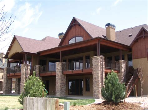 mountain house plans  walkout basement mountain ranch house plans mountain lake house plans
