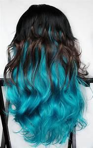 FELINE BLUE Wig Black Brown Turquoise Teal Hair