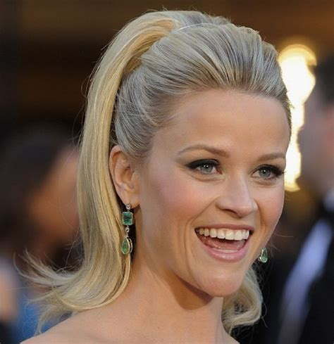 Reese Witherspoon High Ponytail   Casual, Party, Formal