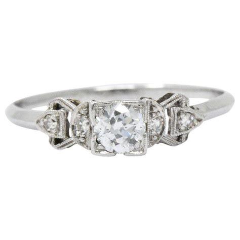 0 48 carat diamond platinum 1940s engagement ring for sale at 1stdibs