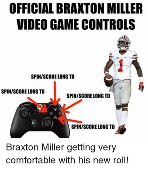 Braxton Miller Meme - official braxton miller videogame controls spinscorelong td spinscore long td spinscore long td