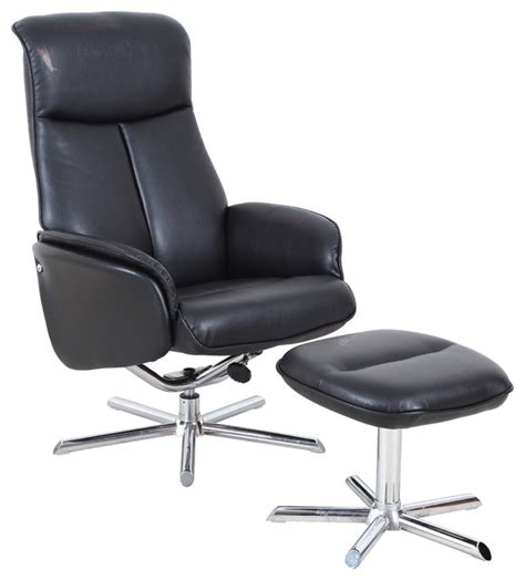 pu leather lounge chair with ottoman contemporary