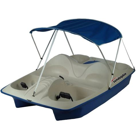 4 Person Pedal Boat by Sun Dolphin 5 Person Pedal Boat With Canopy 71551 The