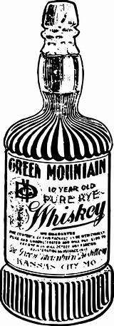 Bottle Whisky Clip Clipart Svg Flaska Alkohol Onlinelabels Kostenlose Naechster Vorheriger sketch template