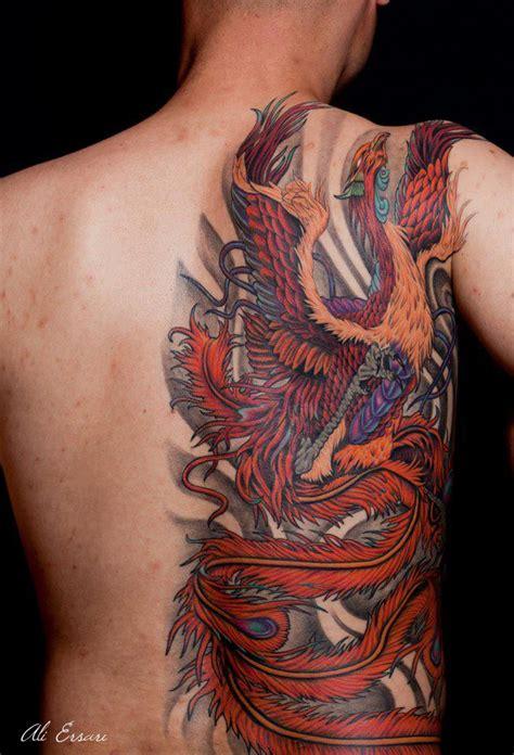 tatouage japonais phoenix modeles  exemples