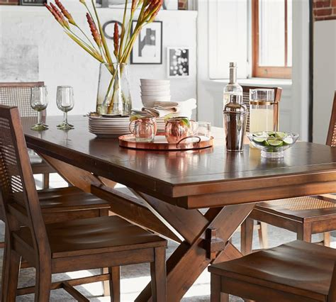 Stylewell donnelly white metal rectangular dining table for 6 with natural finish top (60 in. Toscana Extending Dining Table - Seadrift | Pottery Barn