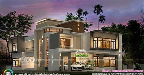 luxury ultra modern home  sq ft kerala home design  floor plans
