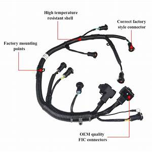 Ficm Fuel Injector Complete Wire Harness Fit For Ford 6 0l