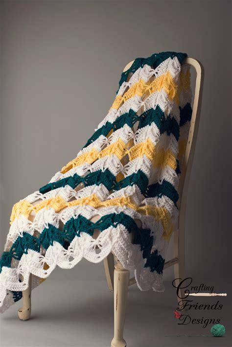 diamond burst chevron afghan crochet pattern