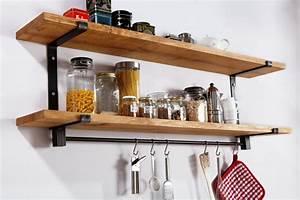 Etagere Murale Pour Cuisine : etagere bois cuisine ~ Dailycaller-alerts.com Idées de Décoration