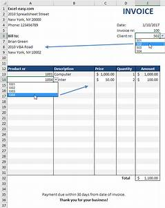 Automated invoice in excel easy excel tutorial for Make invoice in excel