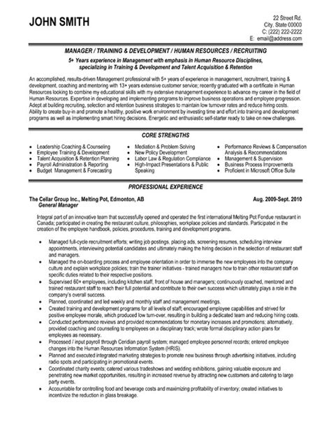 General Manager Resume Pdf by General Manager Resume Exle