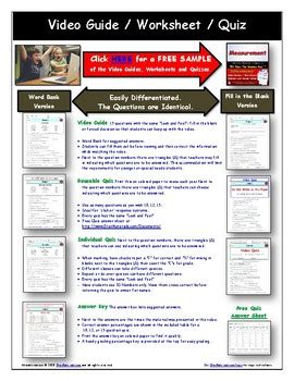 Differentiated Video Worksheet, Quiz & Ans For Bill Nye Motion