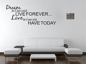 Dream live girls teen bedroom vinyl wall quote art decal