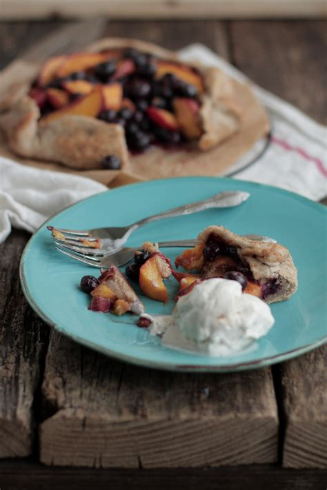 Peach Blueberry Galette Live Simply