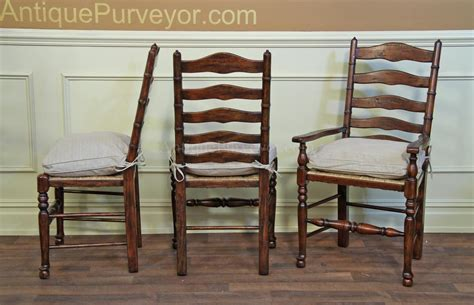 rustic ladder back chairs with seats upholstered