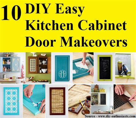 kitchen cabinet door makeover 10 diy easy kitchen cabinet door makeovers home and 5289