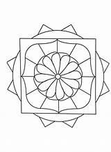 Mandala Simple Mandalas Coloring Print Pages Geometric Designs Flower Adult Patterns Aesthetic Middle Stress Esteem Stimulate Sense Increase Self Discover sketch template