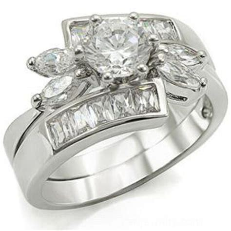 unique flower design cz wedding engagement ring ebay