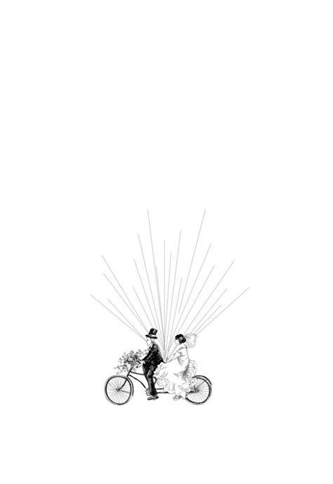fingerabdruck baum vorlage fahrrad paar hochzeit brautpaar