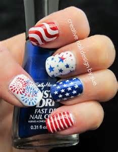 Simple july th patriots day nail designs new trend
