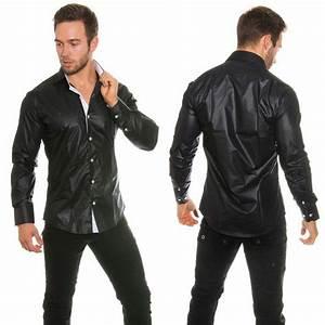 Chemise Jean Noir Homme : chemises fashion homme elliott couleur noir ~ Melissatoandfro.com Idées de Décoration