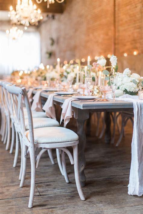 romantic blush  rose wedding inspiration