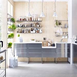 Deco Cuisine Ikea : 10 bonnes raisons de choisir une cuisine grise marie claire ~ Teatrodelosmanantiales.com Idées de Décoration